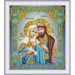 """Икона """"Святые Петр и Феврония"""" - Картины бисером - вышивка бисером икон"""