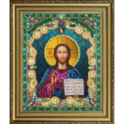 Вышивка бисером икон - Картины бисером - Икона Христа Спасителя