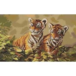 Набор для вышивки крестом - Luca-S - Тигрята