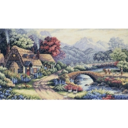 Английский коттедж - Classic Design - набор вышивки крестом
