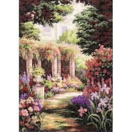 Цветочный дворик - Classic Design - набор для вышивки крестом
