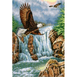 Над водопадом - Classic Design - набор вышивки крестом
