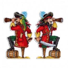 Отважный пират - МП Студия - набор вышивки крестом