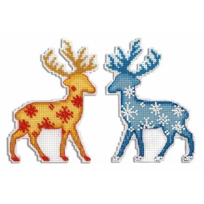 Набор для вышивки крестом - МП Студия - Северный олень