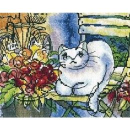 Белый кот - RTO - набор для вышивки крестом