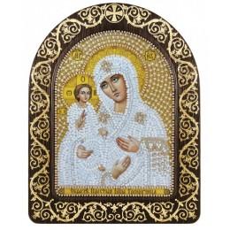 "Икона в рамке-киоте ""Богородица ""Троеручица"" - Нова Слобода - вышивка бисером икон"