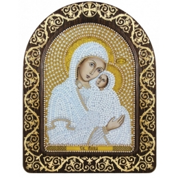 """Икона в рамке-киоте """"Св. Анна с младенцем Марией"""" - Нова Слобода - вышивка бисером икон"""