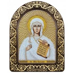 """Икона в рамке-киоте """"Св. Мц. Наталия Никомидийская"""" - Нова Слобода - вышивка бисером икон"""