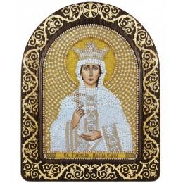 """Икона в рамке-киоте """"Св. Равноап. Царица Елена"""" - Нова Слобода - вышивка бисером икон"""