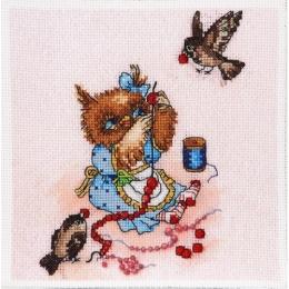 Набор вышивки крестом - Алисена - Рябиновые бусы
