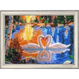 Набор для вышивки бисером - Butterfly - №511 Лебеди на закате