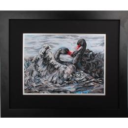 Набор для вышивки крестом - RTO - M557 Два черных лебедя