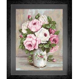 Смешанные розы - Luca-S - вышивка гобеленовым швом