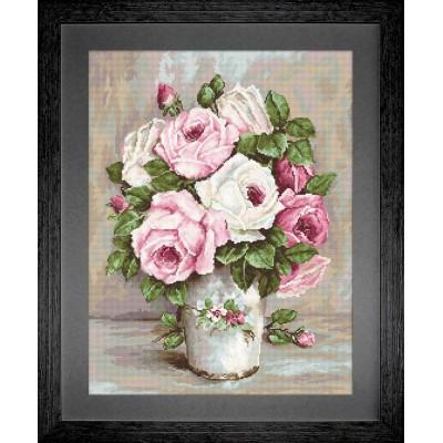 Вышивка гобеленовым швом - Luca-S - Смешанные розы