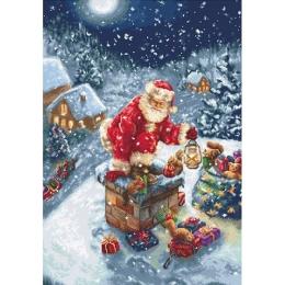 Дед Мороз - Luca-S - вышивка гобеленовым швом
