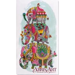 Набор для вышивки бисером - Абрис Арт - AB-605 Три слона на счастье