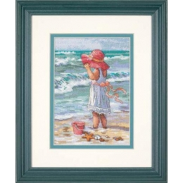 Girl at the Beach (Девочка на берегу) - Dimensions - набор для вышивки крестом