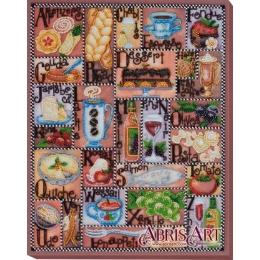 Набор для вышивки бисером - Абрис Арт - АВ-654 Алфавит гурмана АВ-654