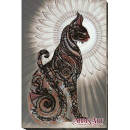 Баст в ночи - Абрис Арт - набор для вышивки бисером