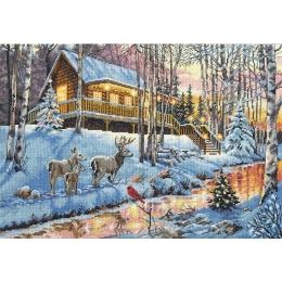 "Winter cabin ""Зима"" - Dimensions - набор для вышивки крестом"