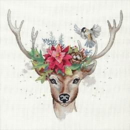 """Woodland deer """"Лесной олень"""" - Dimensions - набор вышивки крестом"""