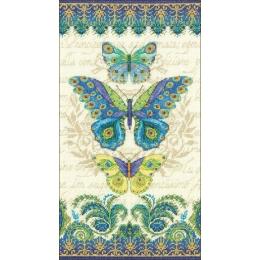 Peacock butterflies - Dimensions - набор для вышивки крестом