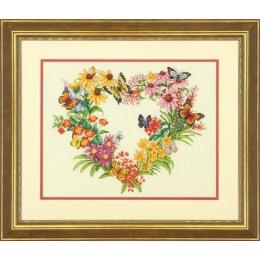 Набор для вышивки крестом - Dimensions - 70-35336 Wildflower Wreath (Венок из полевых цветов)