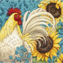 Rooster (Петух) - Dimensions - набор для вышивки крестом