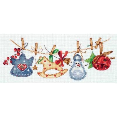 Набор для вышивки крестом - PANNA - ПР-7085 Праздничная гирлянда