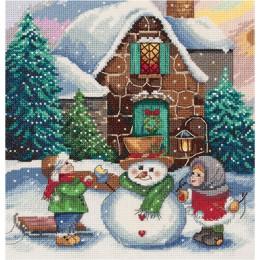 Зима во дворе - PANNA - набор вышивки крестом