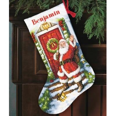 Набор для вышивки крестом - Dimensions - 70-08901 Welcome Santa Stocking (Добро пожаловать Санта)
