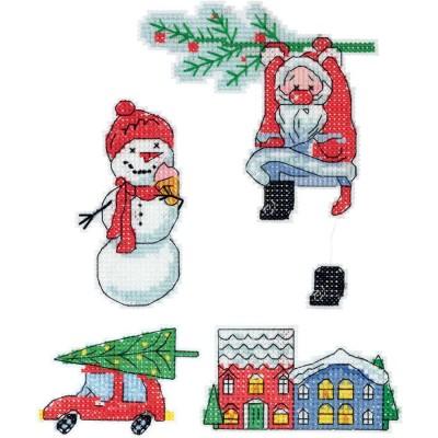 Набор для вышивки крестом - PANNA - Скоро Новый год