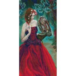 Девушка с ястребом - RTO - набор для вышивки крестом