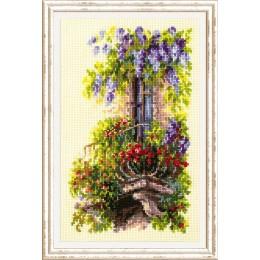 Балкон возлюбленной - Чудесная игла - набор для вышивки крестом