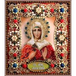 Святая Алевтина - Образа в каменьях - вышивка бисером икон