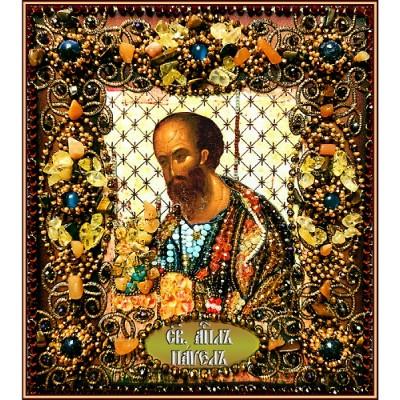 Святой апостол Павел - Образа в каменьях - вышивка бисером икон