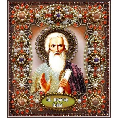 Святой Илья - Образа в каменьях - вышивка бисером икон