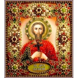 Святой Назарий - Образа в каменьях - вышивка бисером икон