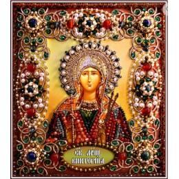 Святая Виктория - Образа в каменьях - вышивка бисером икон