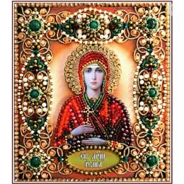 Святая Юлия - Образа в каменьях - вышивка бисером икон
