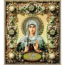 Святая Дарья - Образа в каменьях - вышивка бисером икон