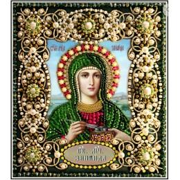 Святая Зинаида - Образа в каменьях - вышивка бисером икон
