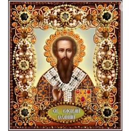Святой Василий - Образа в каменьях - вышивка бисером икон