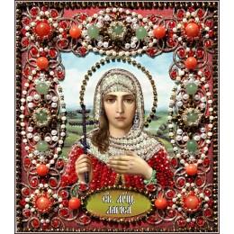 Святая Лариса - Образа в каменьях - вышивка бисером икон
