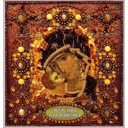 Вышивка бисером икон - Образа в каменьях - Богородица Владимирская