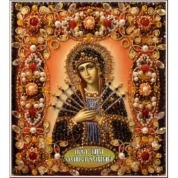 Вышивка бисером икон - Образа в каменьях - БОГОРОДИЦА СЕМИСТРЕЛЬНАЯ