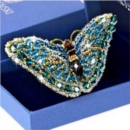 Брошь Бабочка Аметист c кристаллами SWAROVSKI - Образа в каменьях - набор для вышивки бисером