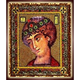 Святой Георгий Победоносец - Образа в каменьях - вышивка бисером икон