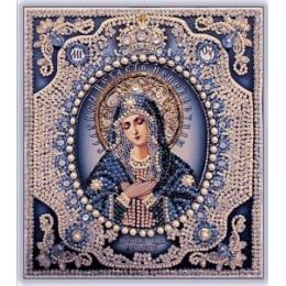Богородица Умиление (с жемчугом Майорика) - Образа в каменьях - вышивка бисером икон