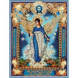 Вышивка бисером икон - Образа в каменьях - Ангел Хранитель домашнего очага-1 7731